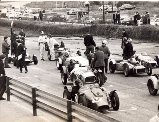 Mike Wilds first ever race, on the grid