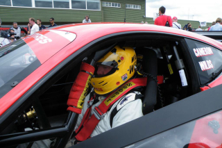 Wildsie in a Ferrari