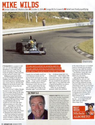 Autosport Article. Race of my Life with Mike Wilds.